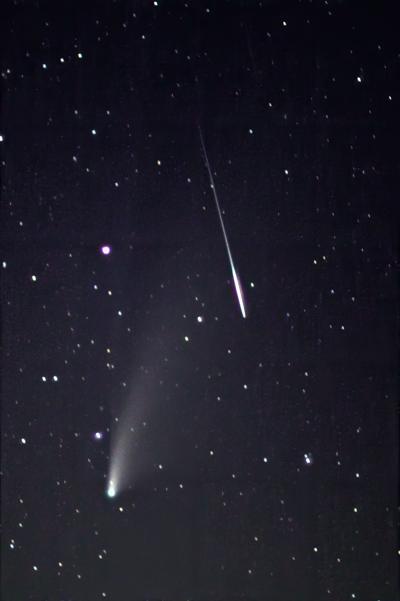 comet and meteor