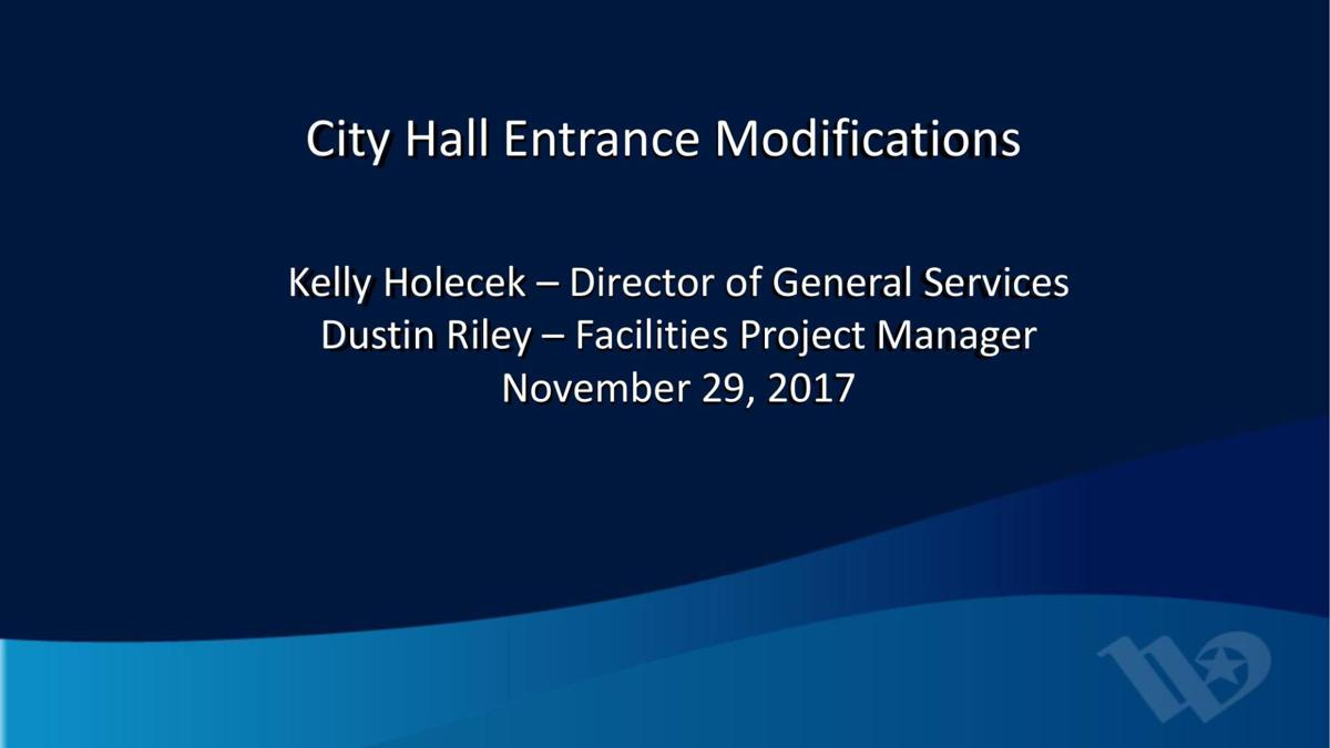 City Hall entrance presentation