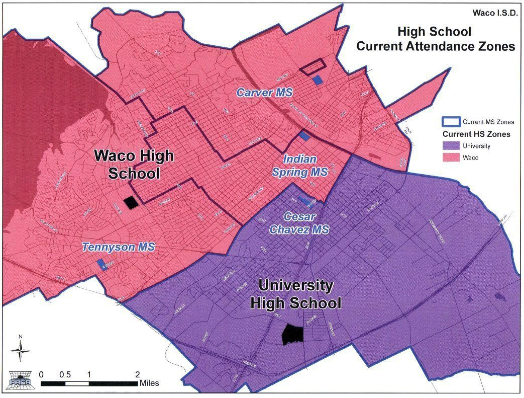 Map Of Texas High Schools.Waco Isd Board Rejects Plan To Rezone High Schools Central Texas