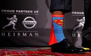 Heisman winner's Superman socks soar in popularity