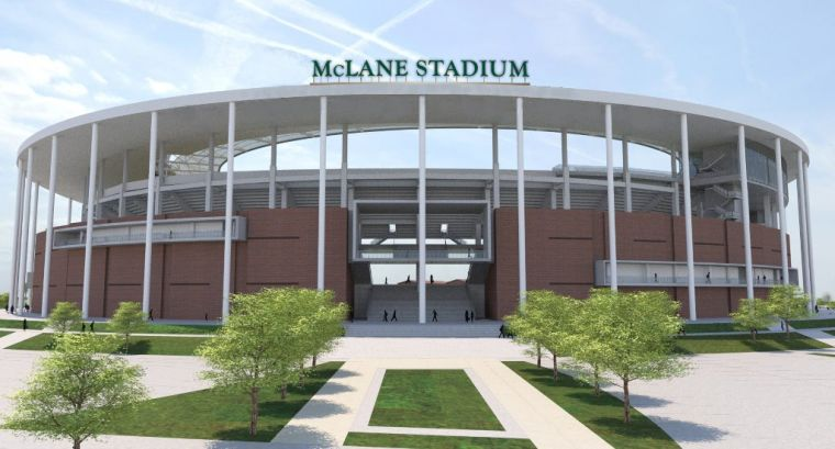 McLane Stadium signage north e