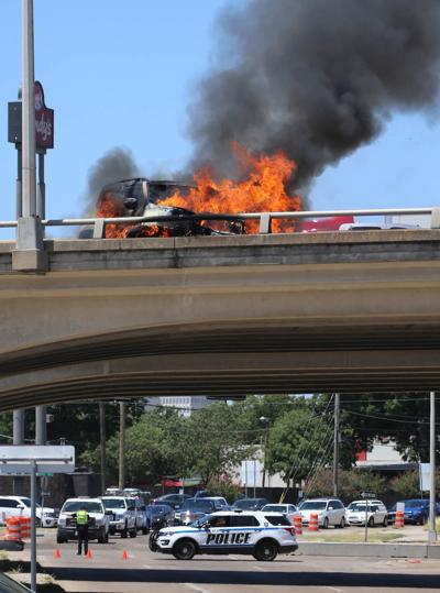 interstate car fire