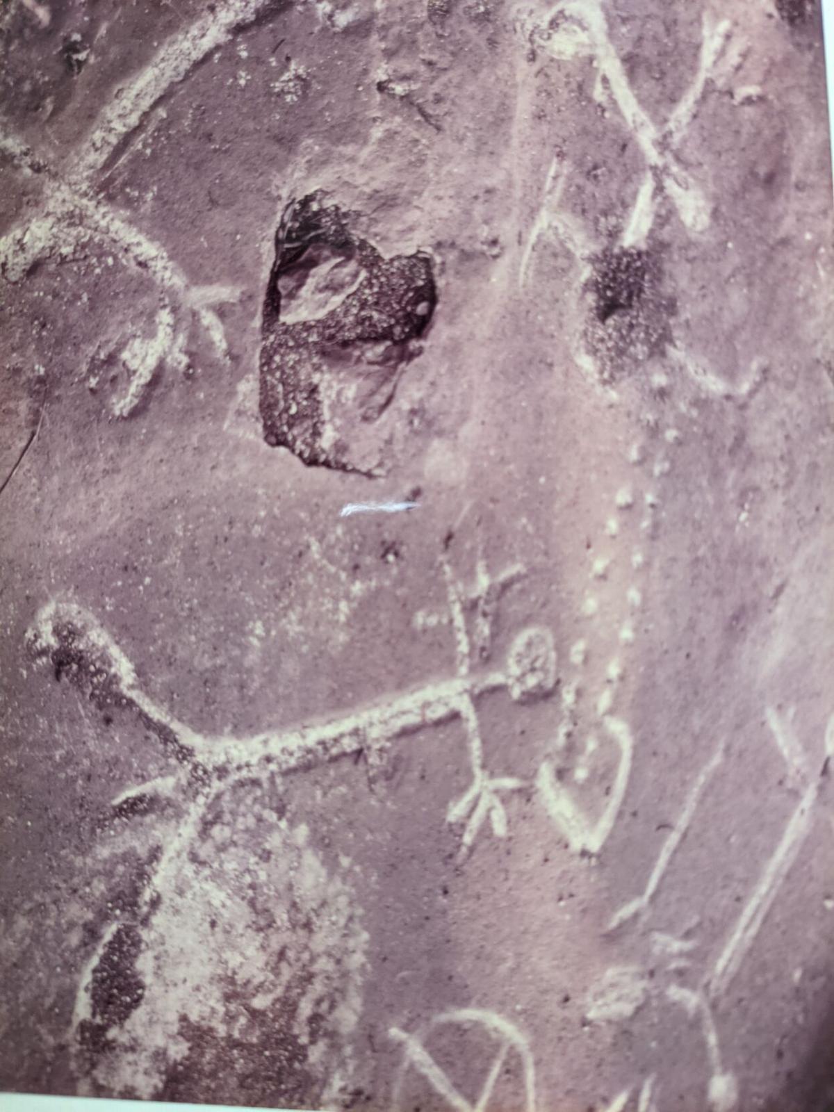 Tonkawa Falls petroglyph