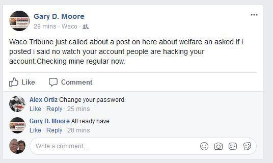 Gary Moore's Facebook
