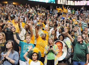 Baylor Lady Bears fans' spirits a mile high in Denver