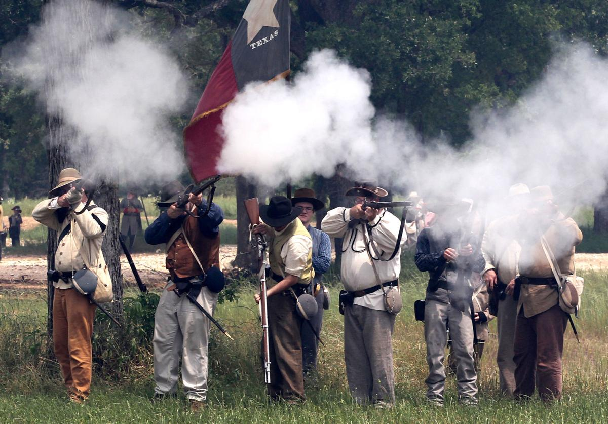 Friends of the Confederate Reunion Grounds re-enactment in