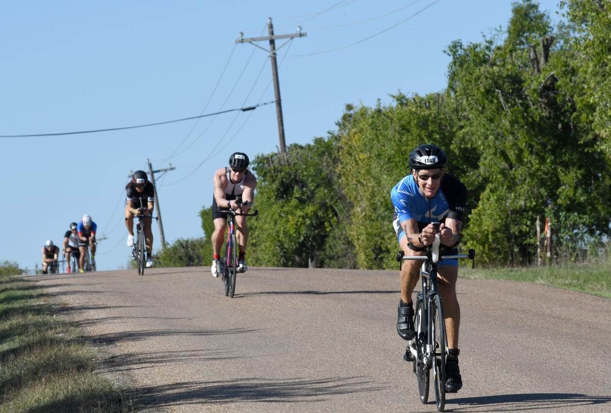 Ironman bikers