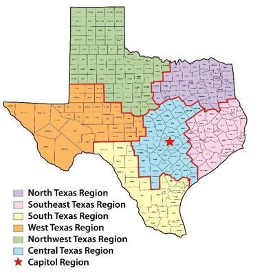 Map Of Northwest Texas.Dps Launches Social Media Accounts Specific To Regions