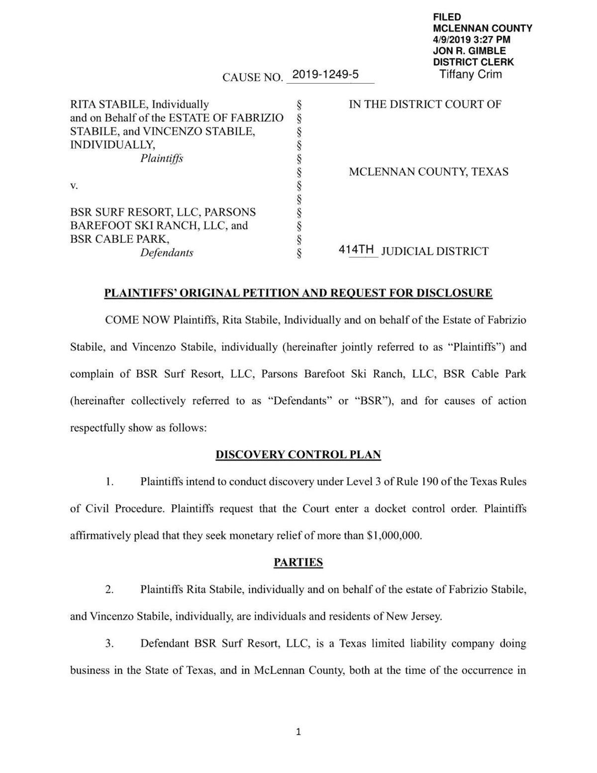 BSR lawsuit