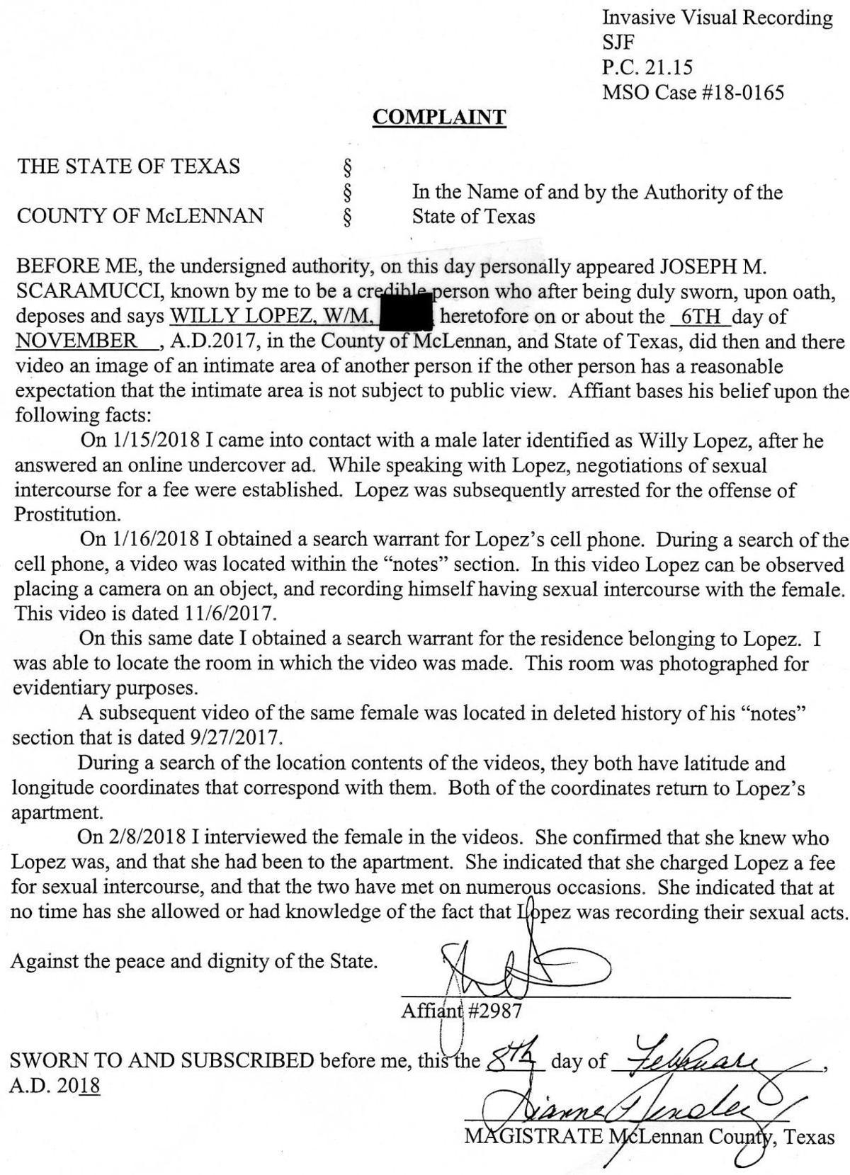Lopez affidavit