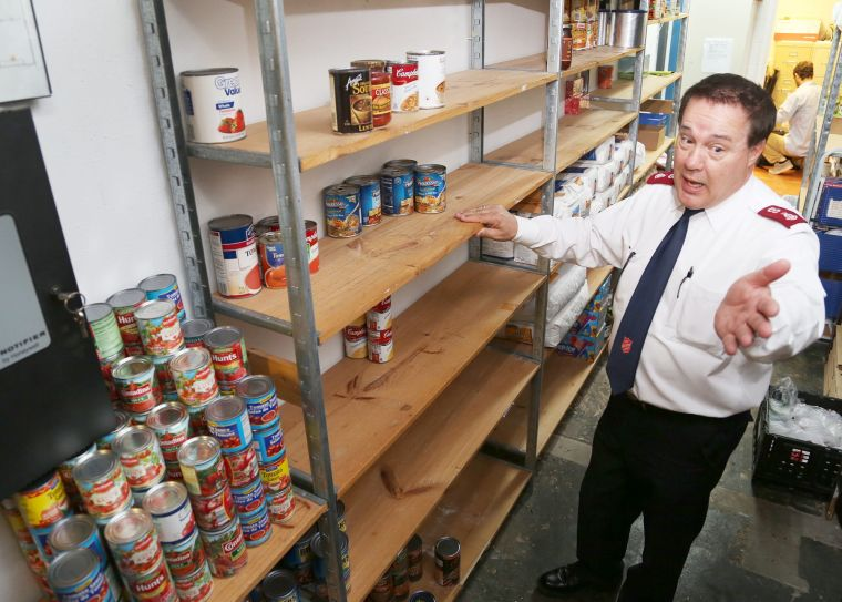 Salvation Army Caritas food pantries hitting the last of their fall