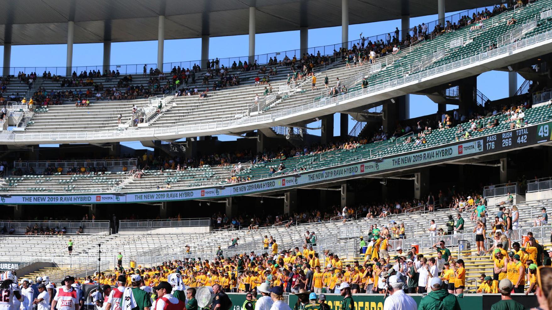 Baylor S Mclane Stadium To Open At 25 Percent Capacity Baylor Wacotrib Com
