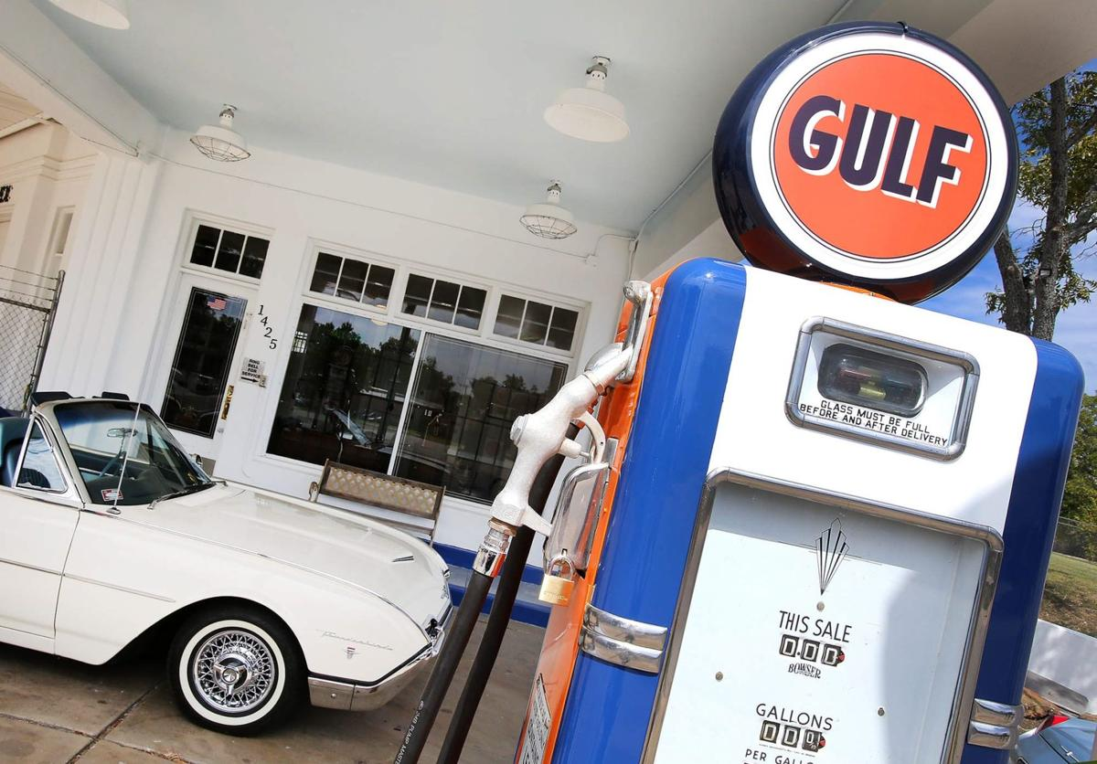 Car crazy brothers restore vintage gulf station downtown