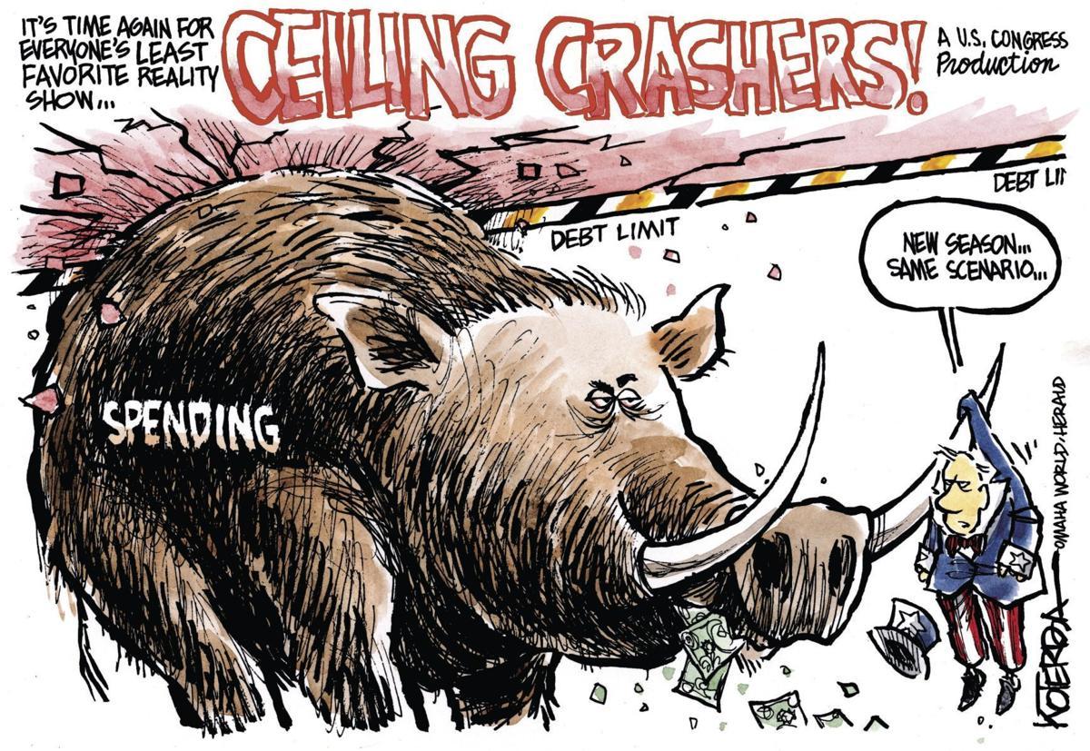 Jeff Koterba's latest cartoon: Taxpayer discretion advised