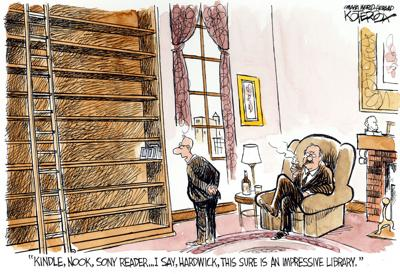 Saturday cartoon - books