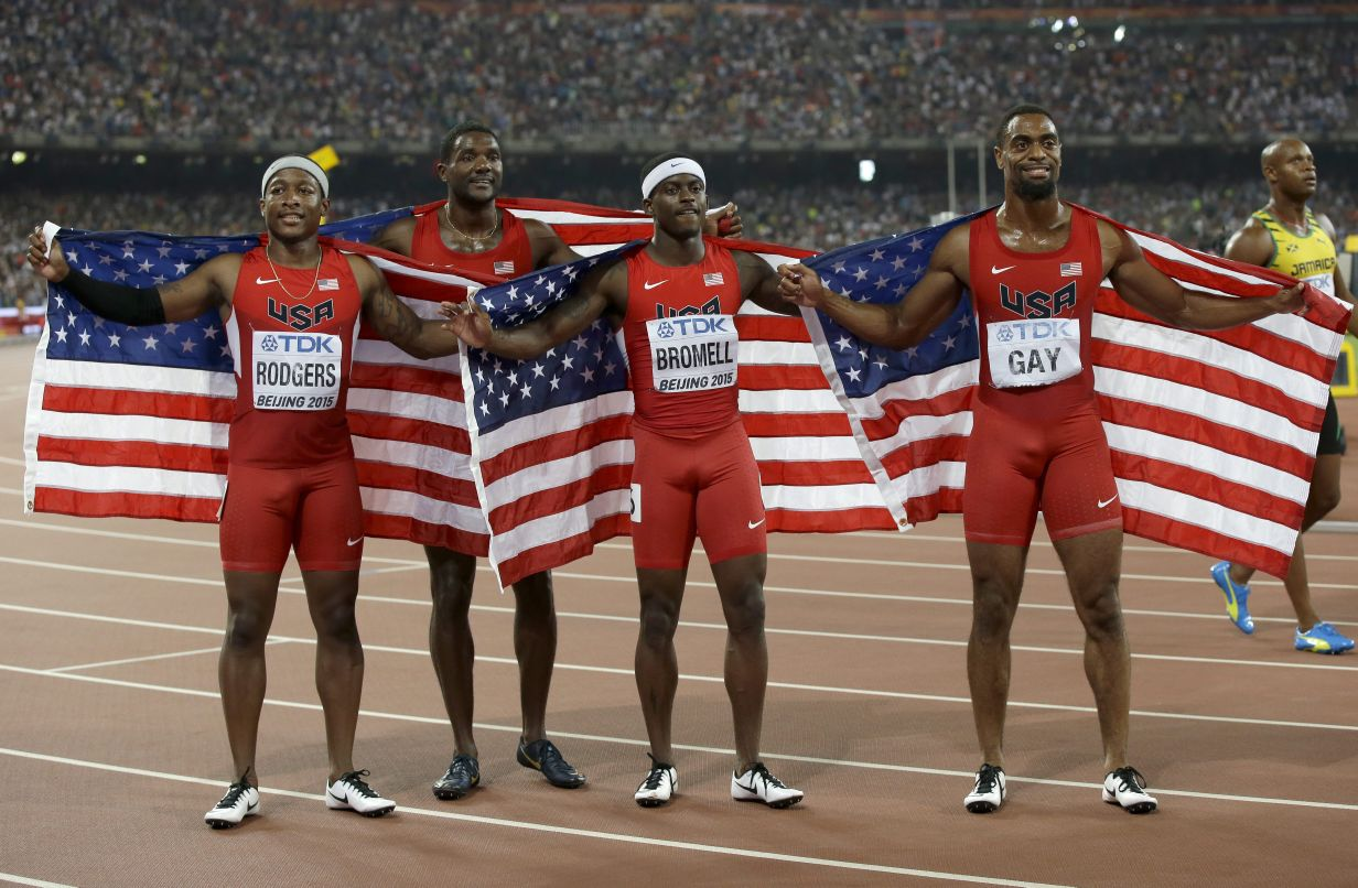 JPEG 0a Bromell US relay team lose silver