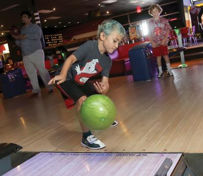 Cayden Cutlip Has An Unorthodox Release As He Bowls At The AMF Westview Lanes While His Cousin Landon Richmond Watches Cousins Are From China Spring