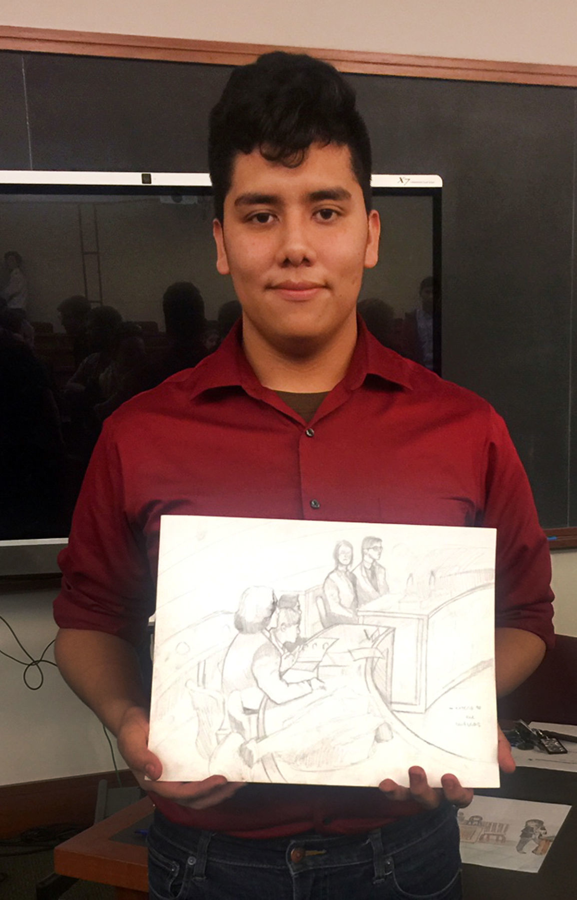 Mock trial artist winner