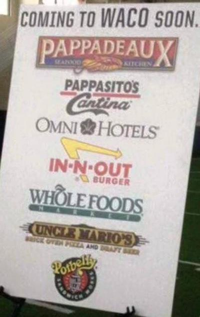 Baylor Poster Exaggerates New Restaurants Purportedly Coming To Waco