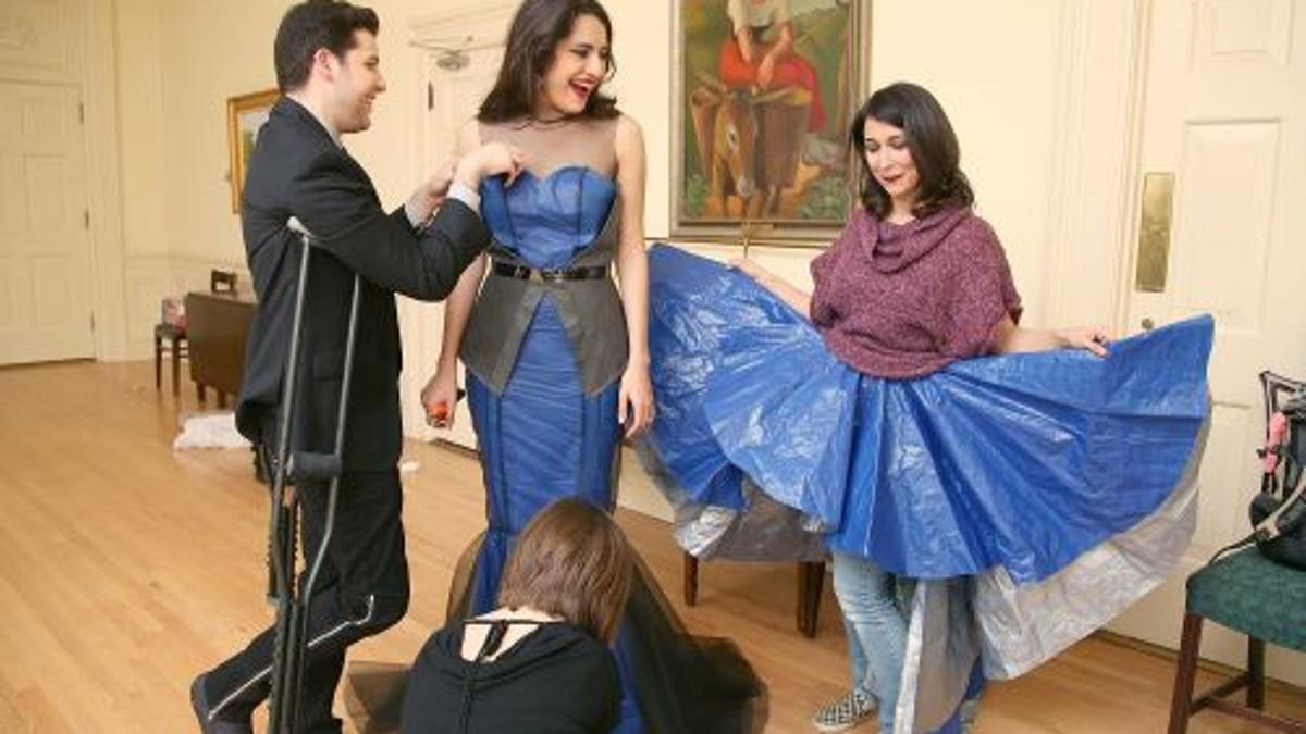 Couture Gowns Made From Recycled Materials At Baylor S Project Greenway Higher Education Wacotrib Com