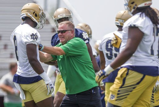 Kelly sees improvement in Notre Dame conditioning (copy)