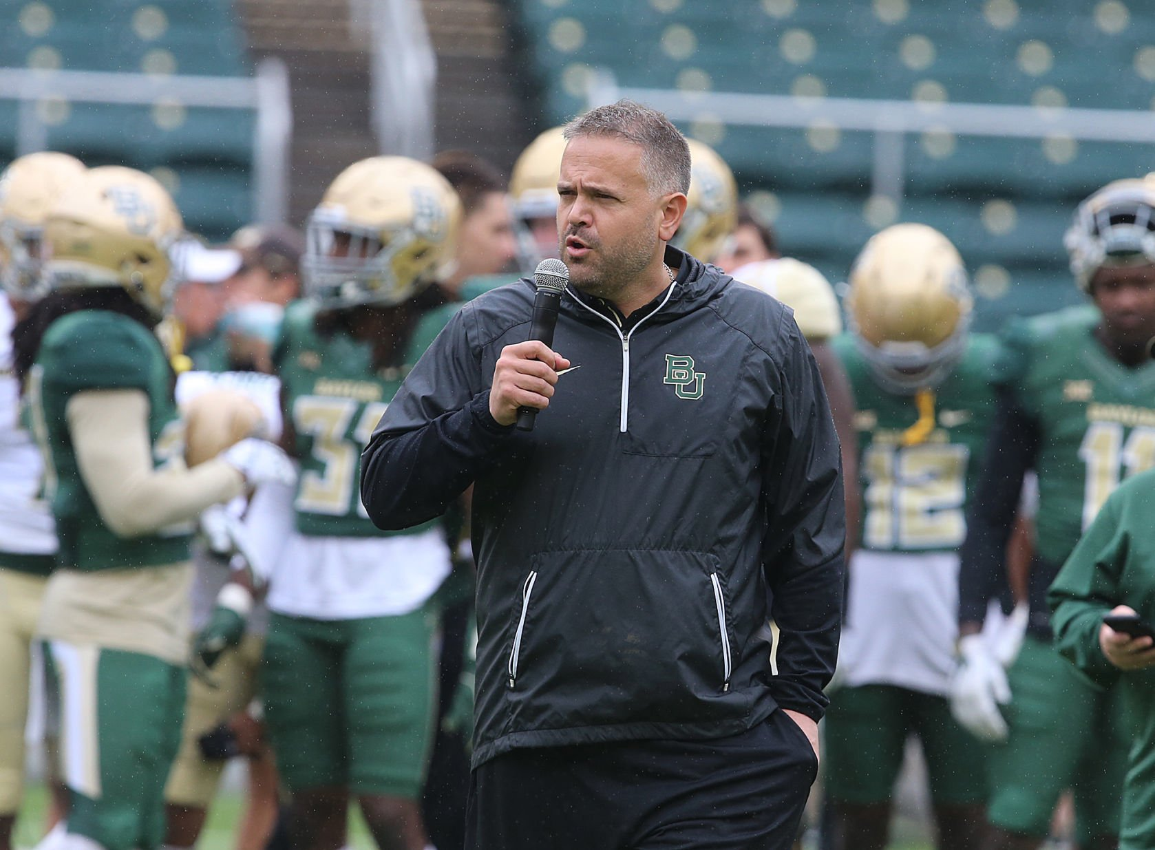 Baylor spring scrimmage Brice Cherry Rhule promises