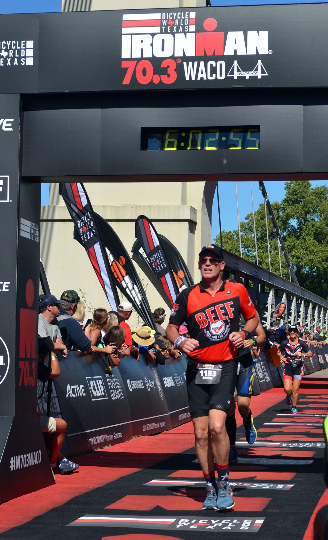 Ironman finish Brian Martin