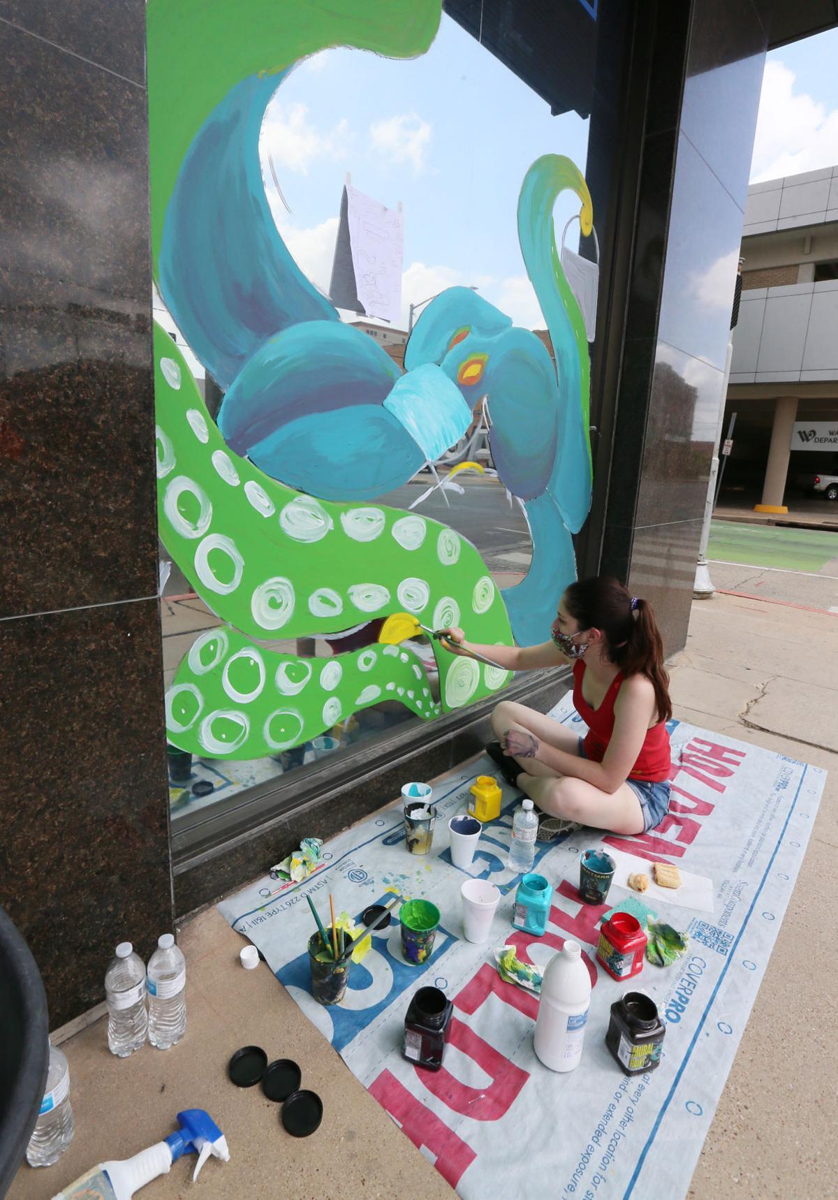 mask mural - octopus