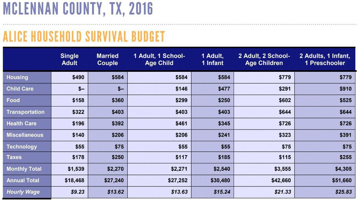 McLennan County survivial budget