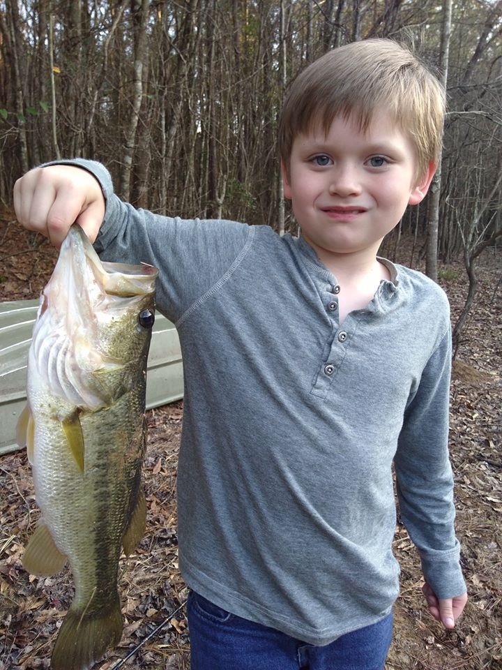 Charlie Terry with largemouth bass