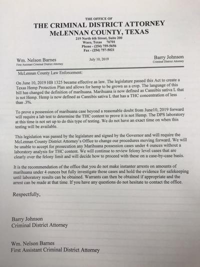 Barry Johnson letter regarding HB 1325
