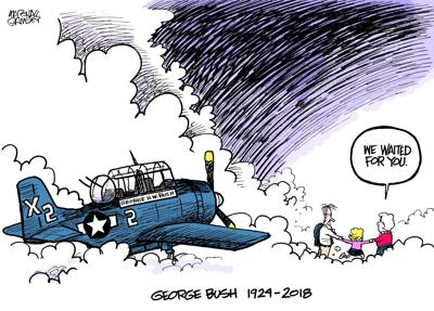 This emotional George H.W. Bush cartoon went viral - touching even his family