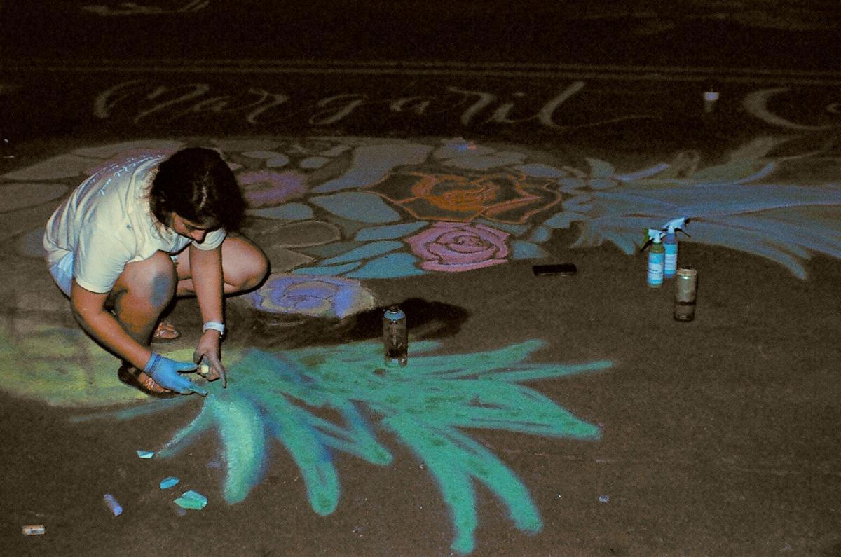 Chalk art Austin Avenue