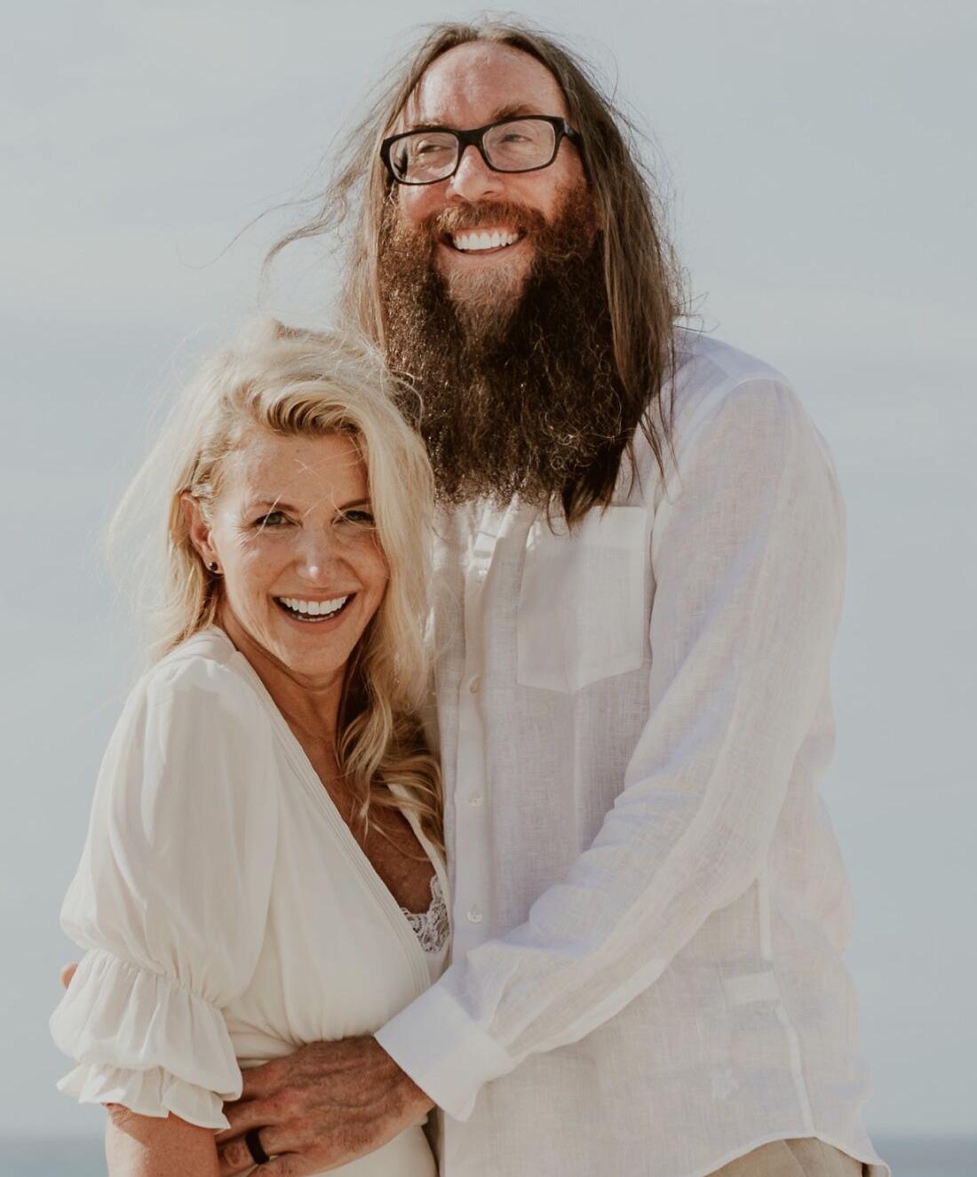 David Crowder mit lieber, Ehefrau Toni Crowder