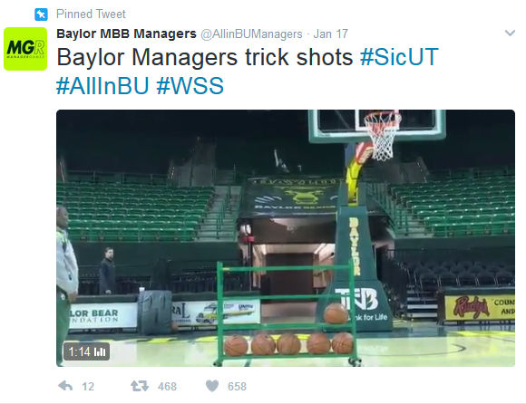 Baylor basketball managers screenshot