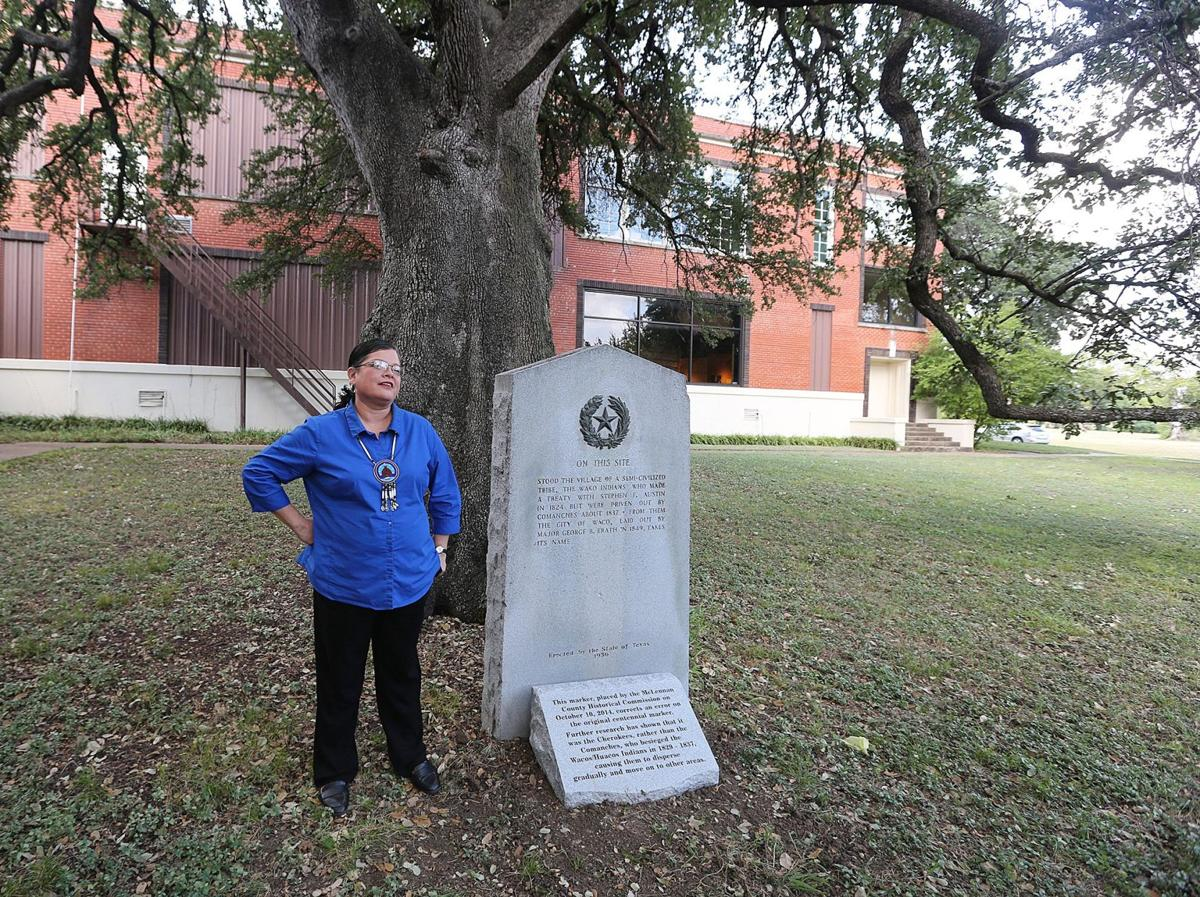 Tribal leaders rededicate monument to Waco Indian Village