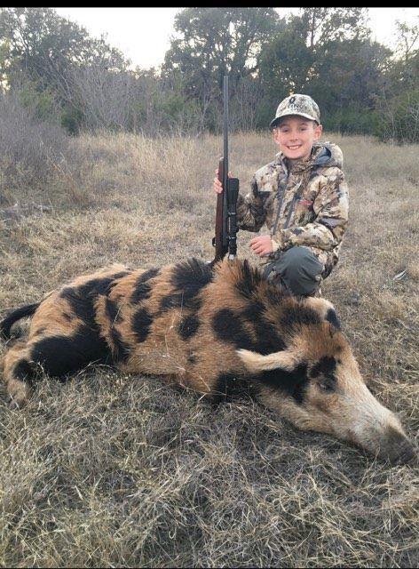 225-pound wild hog