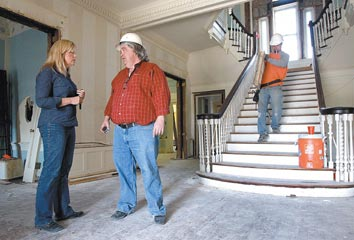 Historic Waco mansion's deconstruction now under way