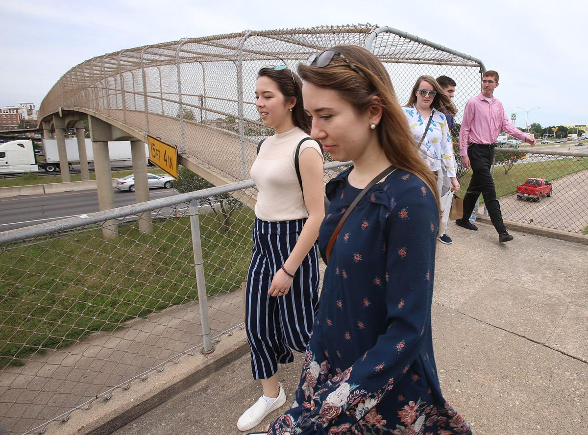 Demolition of I-35 pedestrian bridge to limit crossing