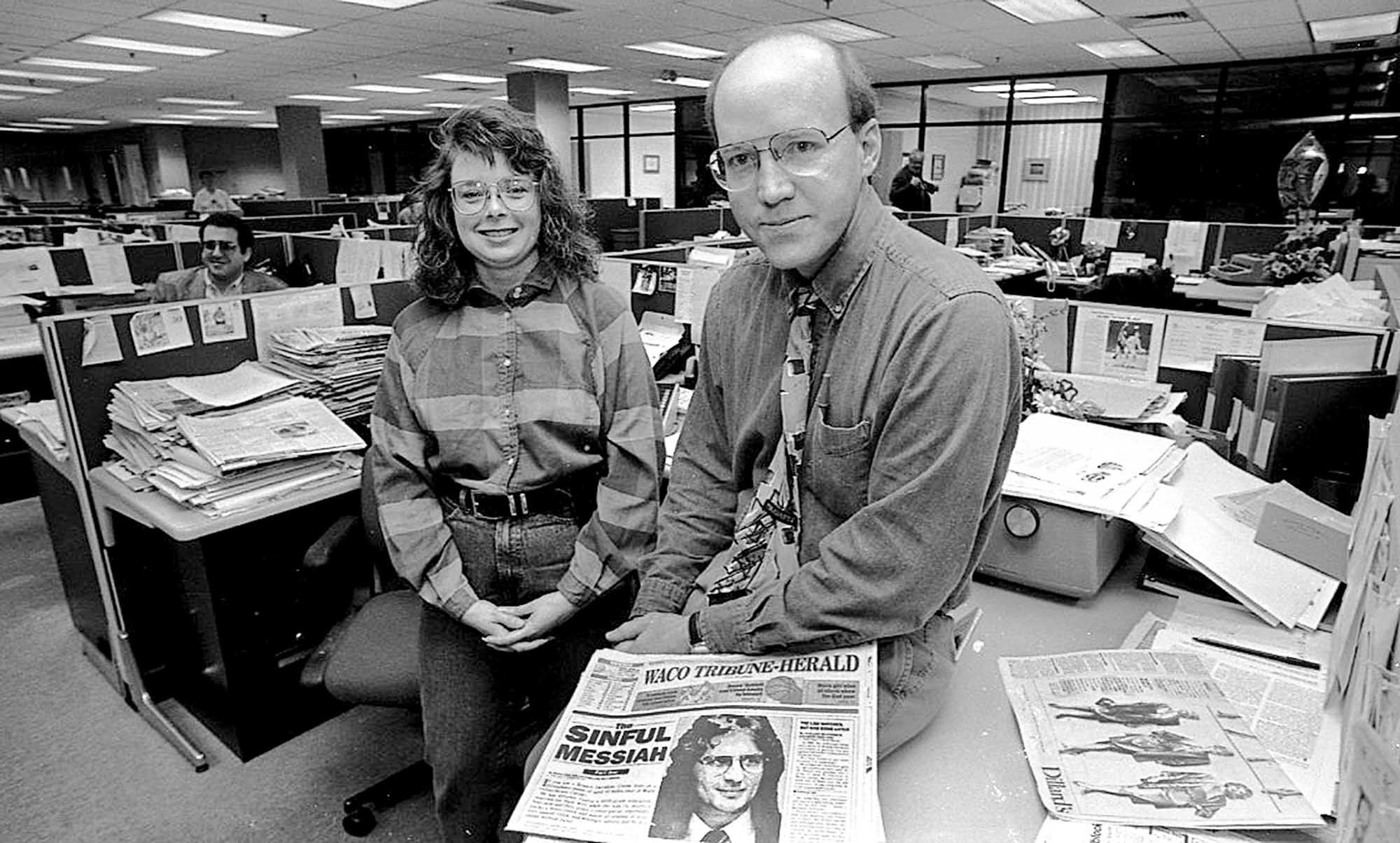Darlene McCormick and Mark England, reporters of the