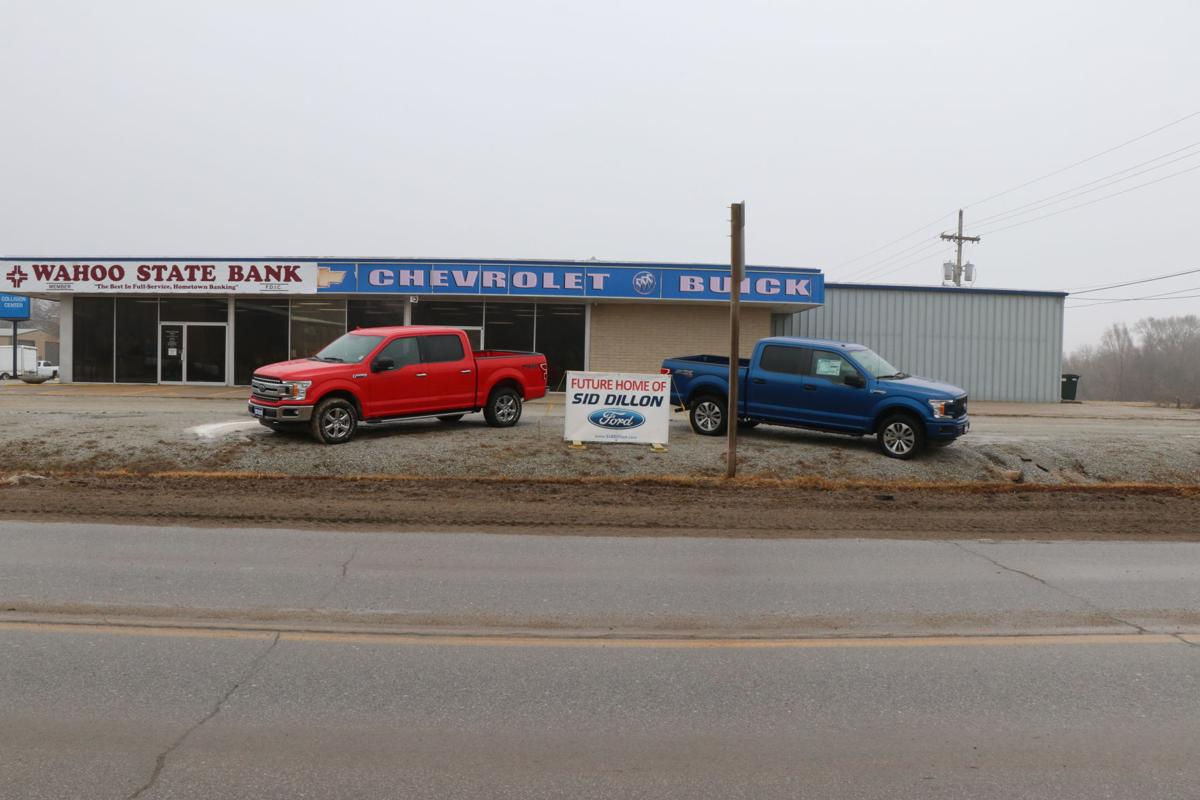 New Old Home Two Ford Pickups And A Coming Soon Sign Foretell The Changes Announced By Sid Dillon Dealership Chevrolet Buick On South