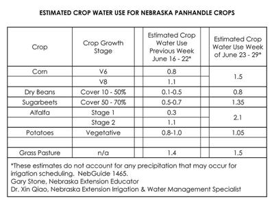 Crop water use in the Panhandle analyzed