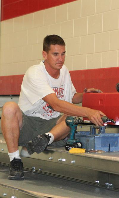Mead High School installs new bleachers | News | wahoo-ashland