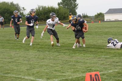 RC football scrimmage