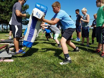 Youth gain football skills at Bluejay Jamboree | Sports | wahoo