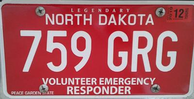 ND man who pushed for first responder plates, park access honored