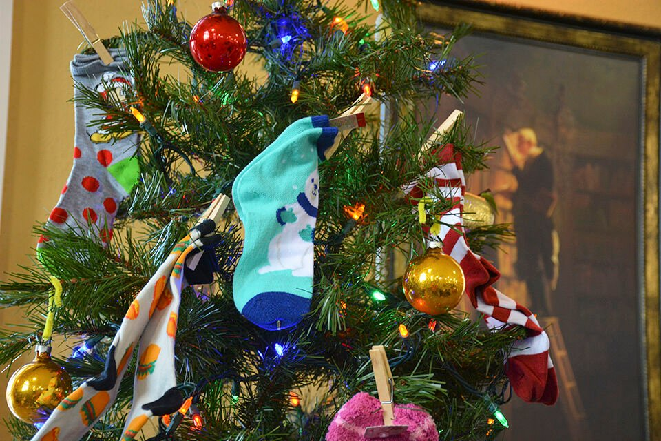 Sock Tree returning to Leach Public Library