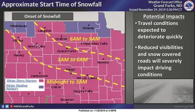 Twin Towns Area placed under winter storm warning