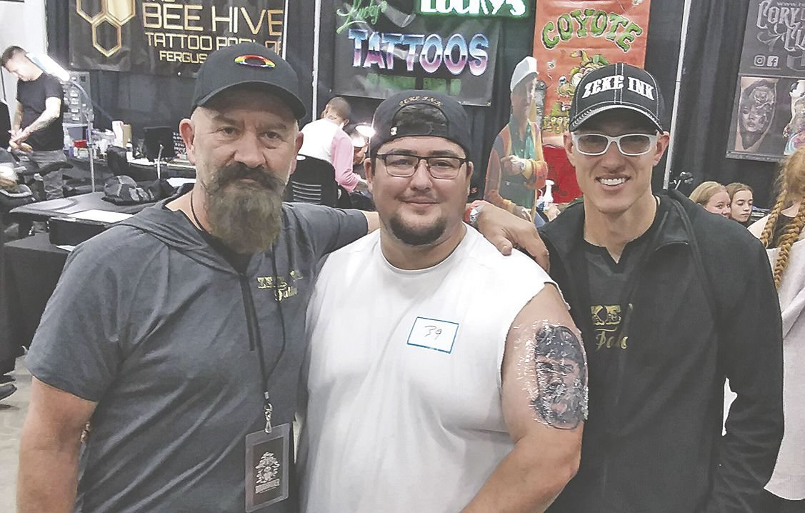 Wahpeton's Zeke Ink Tattoo places in Rough Rider Ink and Iron competition