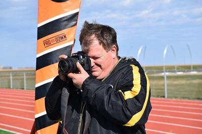 Viger finds himself behind his camera lens